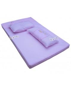 ที่นอนเด็กทารกใยสังเคราะห์แผ่น TS3-013 สีชมพู