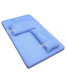 ที่นอนเด็กทารกใยสังเคราะห์แผ่น TS3-013 สีฟ้า