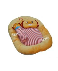 ที่นอนเด็กทารกเบาะนอนทารกใยสังเคราะห์ผ้าเวลบัวหน้าสิงโต