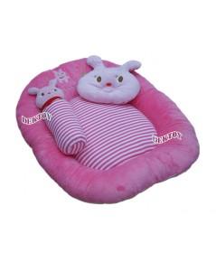 ที่นอนเด็กทารกเบาะนอนทารกใยสังเคราะห์ผ้าเวลบัวหน้ากระต่าย