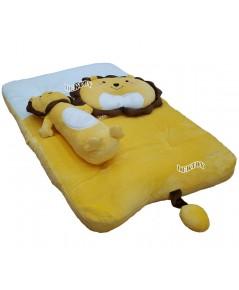 PAPA ปาป้า ที่นอนเด็กเบาะนอนทารกผ้าเวลบัวหน้าสิงโต H29/3