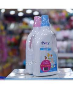 PUREEN เพียวรีน น้ำยาซักผ้าเพียวรีนแถมปรับผ้านุ่ม 900 มล. 1 แถม 1