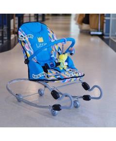 Firstfeels เปลโยกเด็กขนาดใหญ่ขาสปริง FF 482 สีฟ้า