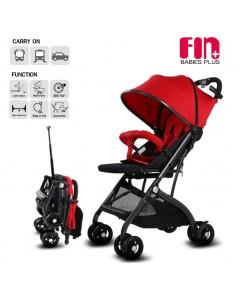 Fin Babiesplus รถเข็นเด็กแบบพบพา ปรับนอนได้ พับเก็บมีล้อลาก รุ่น CAR-Z1 แดง