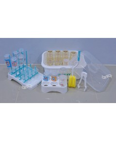 NANNY แนนนี่ ชุดอุปกรณ์ล้างและจัดเก็บขวดนม5ชิ้น ที่คว่ำขวดนม แปรงล้างขวดนม ที่คีบขวดนม แนนนี่ N216/C