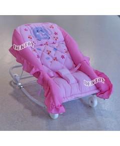Attoon แอทตูน เปลโยกเด็กแอทตูนเบาะหนานุ่ม สีชมพู