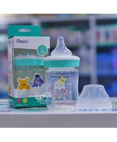 Pureen เพียวรีน ขวดนมPureen PP ขวดนมเพียวรีนหมีพูห์ PP 4 ออนซ์คอกว้างสีเขียว