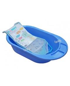 NANNY แนนนี่ อ่างอาบน้ำเด็กแนนนี่3069 พร้อมตาข่ายรองอาบน้ำN262 สีฟ้า