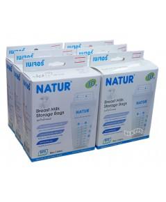 NATUR เนเจอร์ ถุงเก็บน้ำนมเนเจอร์ 8 ออนซ์ 30 ใบx6กล่อง180ใบ