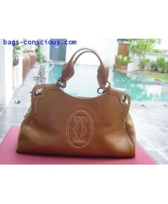 "\""MARCELLO de CARTIER\""bag/large model/tobacco color"