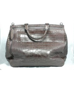 Burberry Large weekend bag in croc leather