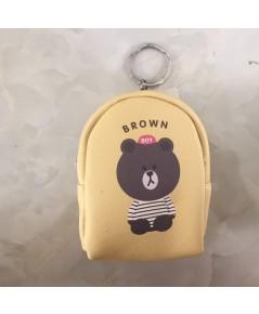 กระเป๋าใส่เหรียญ แบบเสมือนเป้ขนาดเล็ก รูป Brown