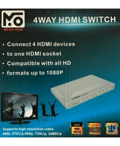 HDMI SELECTOR MEGA-OHM 4WAY HDMI SWITCH