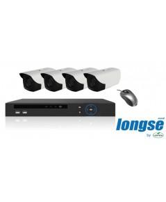 ชุดวงจรปิด 4 กล้อง Longse รุ่น PLC2004A1S100 (HD-PLC Camera 1.0MP)