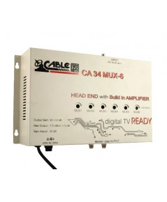 Headend Booster ขยายสัญญาณเสาดิจิตอลทีวี CABLE รุ่น CA34MUX-6