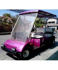 รถกอล์ฟ SANYO มือสองญี่ปุ่น 6 ที่นั่ง สีม่วงมุกใหม่ เบาะใหม่