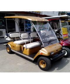 รถกอล์ฟ YAMAHA Turfjoy มือสองญี่ปุ่น 6 ที่นั่ง สีทองใหม่ เบาะใหม่