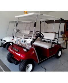 รถกอล์ฟไฟฟ้าเซลล์แสงอาทิตย์ Club Car  4 ที่นั่ง สีแดง