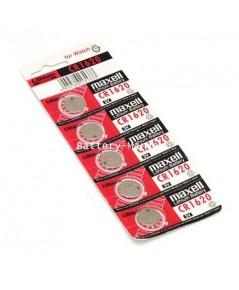 ถ่านกระดุม Maxell CR1620 pack 5 ก้อน ซื้อเป็น pack ประหยัดกว่าเห็น ๆ