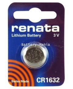 ถ่านกระดุม renata CR1632 pack 1 ก้อน made in swiss