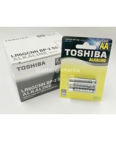 ถ่านอัลคาไลน์ AA แพ็ค 2 ก้อน Toshiba Alkaline Blueline LR6BP2 1 กล่อง