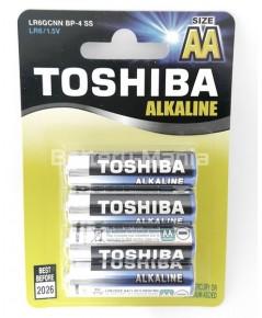 ถ่านอัลคาไลน์ AA แพ็ค 4 ก้อน Toshiba Alkaline Blueline LR6BP4
