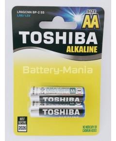 ถ่านอัลคาไลน์ AA แพ็ค 2 ก้อน Toshiba Alkaline Blueline LR6BP2