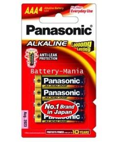 ถ่านอัลคาไลน์ Panasonic Alkaline LR03T/4B AAA 4 ก้อน