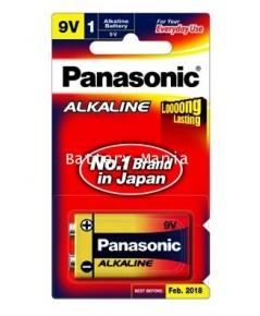 ถ่านอัลคาไลน์ 6LR61T/1B 9V (1 ก้อน) Panasonic