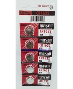 ถ่านกระดุม maxell CR1632 pack 5 ก้อน ซื้อเป็น pack คุ้มกว่าเห็น ๆ