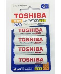 ถ่านชาร์จ AA 2,450mAh (แพ็ค4ก้อน) Toshiba Pro TNH-6AH