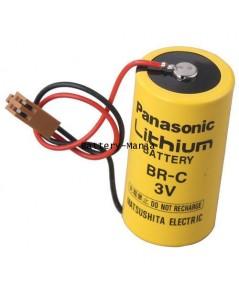 แบตเตอรี่ลิเธี่ยม Panasonic BR-C C-Size 3 Volts (3V) 5000mAh (5Ah) Lithium Battery w/ Plug