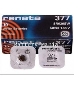 ถ่านกระดุม renata 377 (SR626SW) pack 1 ก้อน made in swiss