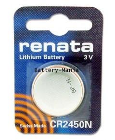 ถ่านกระดุม renata CR2450N pack 1 ก้อน made in swiss