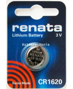 ถ่านกระดุม renata CR1620 pack 1 ก้อน made in swiss