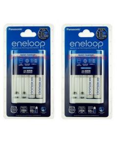 panasonic eneloop basic charger 10HR พร้อมถ่าน AA 2 ก้อน 2 ชุด