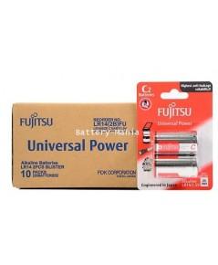Fujitsu - Alkaline batteries - Universal Power ขนาด C / LR41 / ก้อนกลาง 1.5V จำนวน 10 แพ๊ค 20 ก้อน
