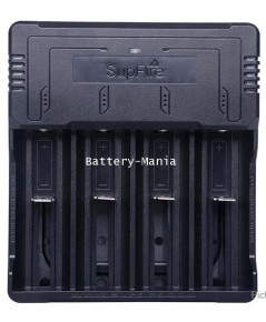 เครื่องชาร์จ SupFire AC46 USB charger 4 slot 18650 rechargeable battery charger, 26650, 16340