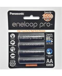 แบตเตอรี่ Panasonic Eneloop Pro 2550 mAh - AAx4 (BK-3HCCE/4BT)