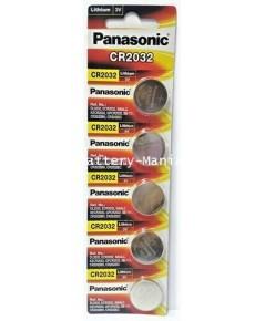 ถ่านกระดุม Panasonic CR2032 pack 5 ก้อน ของแท้ ล้านเปอร์เซนต์ ซื้อเป็น pack คุ้มกว่าเห็น ๆ
