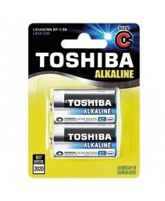 ถ่านอัลคาไลน์ C แพ็ค 2 ก้อน Toshiba Alkaline Blueline LR14BP2