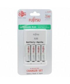 Fujitsu Basic Charger 6HR FCT345 เครื่องชาร์จ 6 ชม. พร้อมสุดยอดถ่านชาร์จ AA 4 ก้อน