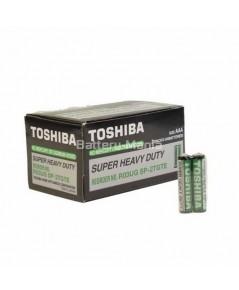 ถ่านคาร์บอนซิงค์ R03UG AAA (แพ็ค2ก้อน) toshiba super heavy duty 1 กล่อง