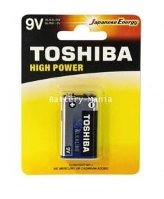 ถ่านอัลคาไลน์ 9V แพ็ค 1 ก้อน Toshiba Alkaline High Power 6LR61GCP BP-1