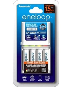 panasonic eneloop smart and quick charger 1.5HR พร้อมถ่าน AA 4 ก้อน K-KJ55MCC40T
