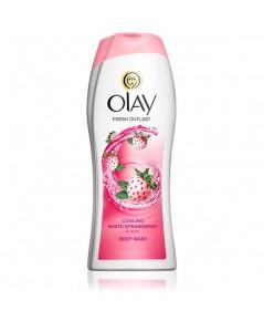 NEW Olay Fresh Outlast Cooling White Strawberry  Mint Body Wash ขวด 473 ml. ครีมอาบน้ำที่มียอดขายอั