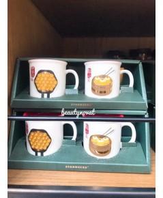 Starbucks Hong Kong Vintage Hong Kong Traditional Food Mug Set