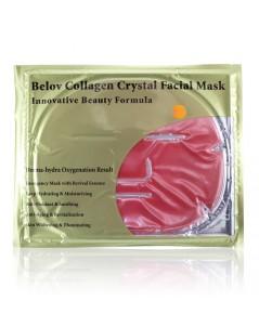 แผ่นเจลมาร์คหน้ากากคอลลาเจน Collagen Crystal Facial Mask  (1 แผ่น) BELOV สีชมพู