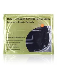 แผ่นเจลมาร์คหน้ากากคอลลาเจนและคาร์บอน Collagen Crystal Facial Mask  (1 แผ่น) BELOV สีดำ