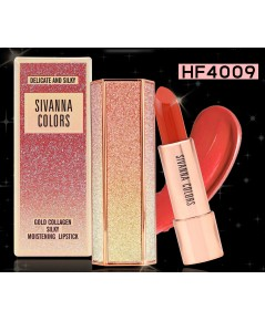 Sivanna colors delicate and silky gold collagen silky moistening lipstick hf4009 ลิปสติกเนื้อซาติน